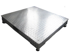 Galvanized floor scale base